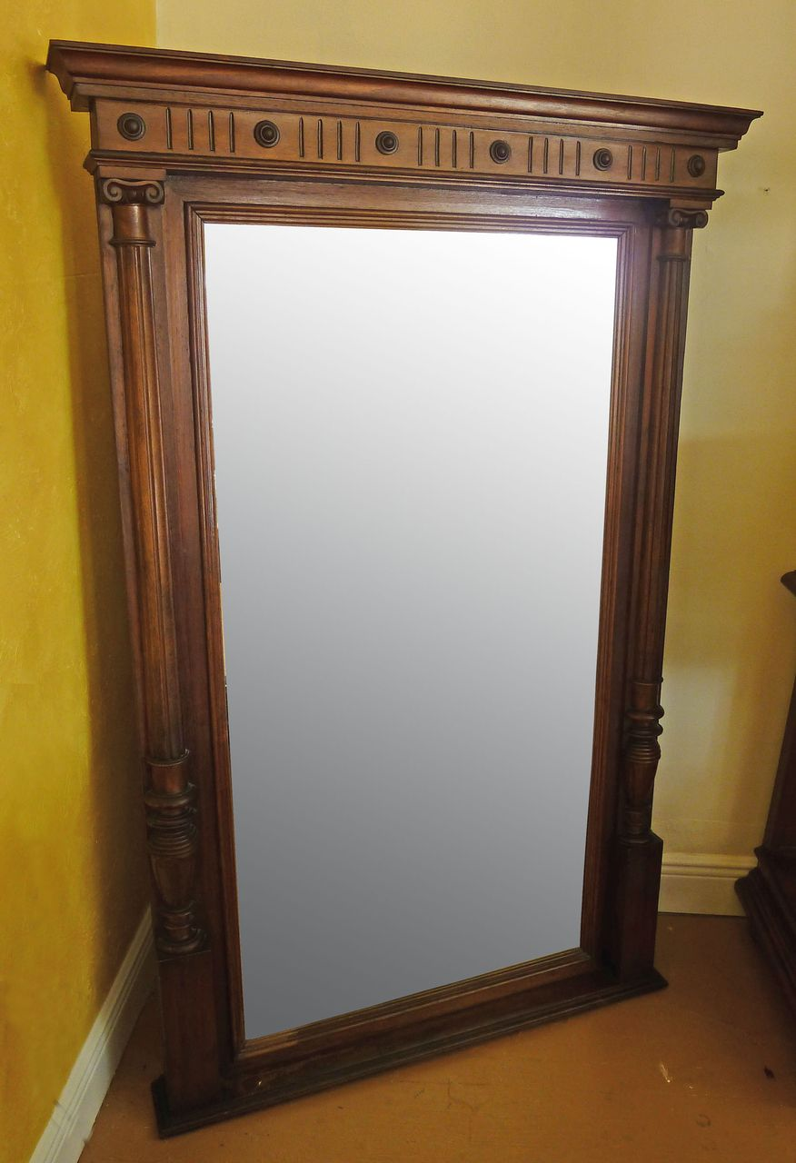 Final sale large 19th century austrian wall mirror sold Large wooden mirrors for sale