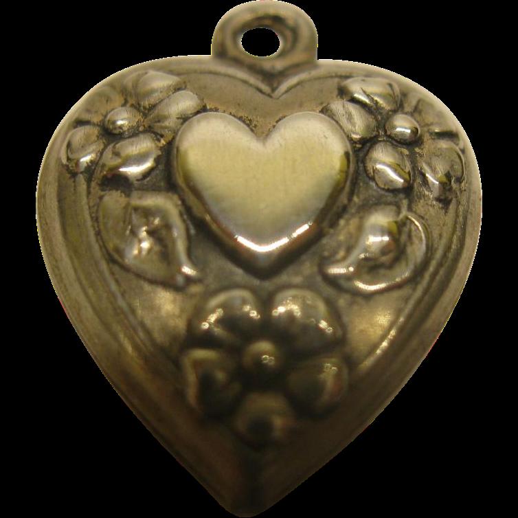 Vintage Sterling Silver Heart 90