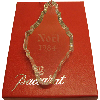 1984 Signed Baccarat Annual Christmas Ornament in Original Box