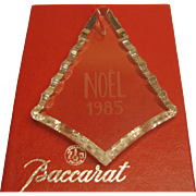 1985 Signed Baccarat Crystal Annual Christmas Ornament in Original Box