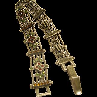 Early Signed Napier Delicate Jeweled Slide Style Bracelet