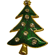 Signed LIA Lianna Christmas Tree Pin Broach Book Piece