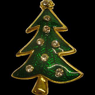 Signed LIA Lianna Christmas Tree Pin Broach Book Piece