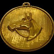 Vintage Signed WINNARD Gold Filled Horse Pendant
