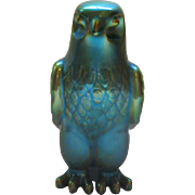 Vintage Zsolnay Green Eosin Falcon Bird Figurine