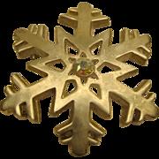 Vintage Signed LIA Christmas Snowflake Pin