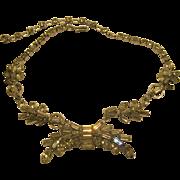 Vintage Art Deco Clear Rhinestine Choker Necklace
