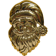 Vintage Signed Best Silver Plate Christmas Santa Pin Broach Pendant