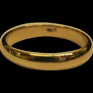 Vintage 14K Yellow Gold Wedding Band Ring Sz 8.75 Weighs 3.5 Grams