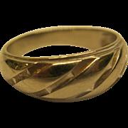 Vintage 14 K White Gold Wedding Ring Band Sz 9.5  Weighs 4.7 Grams