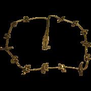 Vintage Signed Sterling Silver Endangered Species Fetish Necklace 51.5 Grams