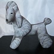 Signed 1994 Lynda Pleet Standard Poodle Folk Art Dog