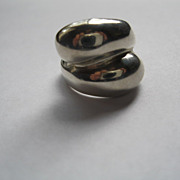 Vintage Taxco Mexico Hand Made Sterling Silver  Ring-size 6.5