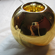 Vintage Gold Mercury Glass Vase