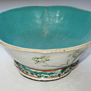 Antique Large Chinese Footed Bowl