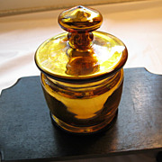 Vintage Gold Mercury Glass Container with Lid