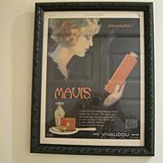 Vintage 1921 Mavis Vivaudou Original Ladies Home Journal Ad- Artist Fred L. Packer