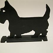 Vintage Signed 1900's Cast Iron Black Scottie Dog Boot Scraper Doorstop