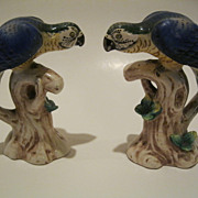 Vintage Pair of Blue Parrots Made in Japan