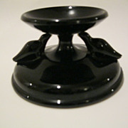 HOUZE Black Amethyst Glass MARION Bird Bath Pin Dish