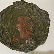 Antique Art Nouveau Ernst Wahliss Plaque Turn Wein Austria c early 1900s