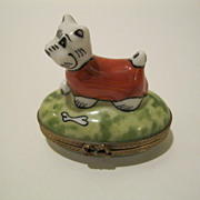 West Highland Terrier Limoges Box   Hand Painted & Signed