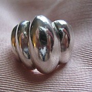 Vintage Taxco Mexico Hand Made Sterling Silver Ring Size 6.5