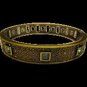 Signed Heidi Daus Jeweled Hinged Bangle Bracelet