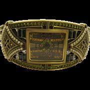 Signed Heidi Daus  Art Deco Style Jeweled Bracelet Watch