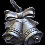 Vintage Signed Anson Sterling Silver Bells Charm
