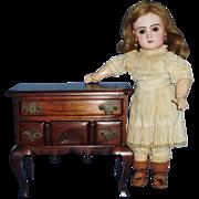 Solid Curved Leg Hardwood Lowboy Doll Furniture