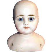 Antique German Closed Mouth Bisque GK 47-22 Doll Head