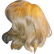 Antique 1914 Blond Mohair Doll Wig With Pate