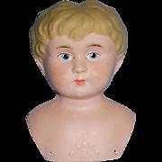 Antique German Minerva Painted Eye 5 Metal Doll Head