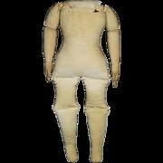 19 Inch Antique Linen Cotton Cloth Doll Body