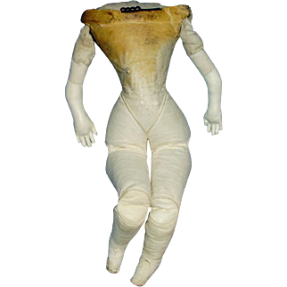 Antique Ten Inch All Leather Fashion Doll Body