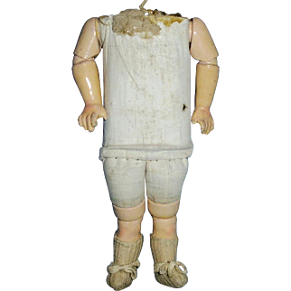 Small Antique German Cloth and Composition Jointed Doll Body