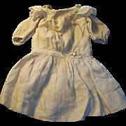 Antique Ecru Silk and Lace Drop Waist Doll Dress