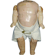6 Inch Antique German Five Piece Baby Doll Body