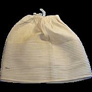 Antique 1800s Creamy White Hand Stitched Cotton Doll Slip