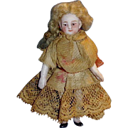 Antique 1880s German Pin Jointed All Bisque Doll