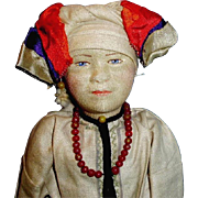1920s Soviet Union Russian Stockinette Mordwa Woman Doll
