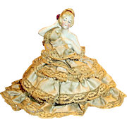 Antique 6348 German China Pincushion Half Doll