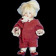 Antique German Three Inch All Bisque Doll