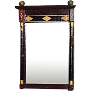 Vintage Inlaid Wooden Dollhouse Mirror FAO Schwarz