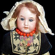 8 Inch Antique German Bisque AM 390 Armand Marseille Doll in Original Clothes
