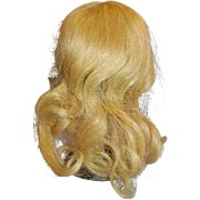 Vintage Small French Blond Human Hair Doll Wig