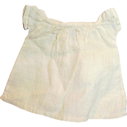 Small Size Fine Hand Stitched Antique White Cotton Doll Chemise