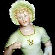 Antique Gebruder Heubach Bisque Lady Figurine In Bathing Suit
