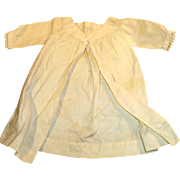 Antique Open Front Early Fashion White Cotton Doll Chemise